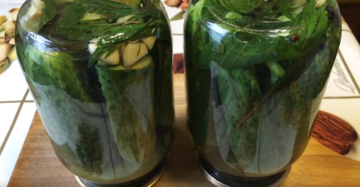 маринованные огурцы рецепт на зиму хрустящие