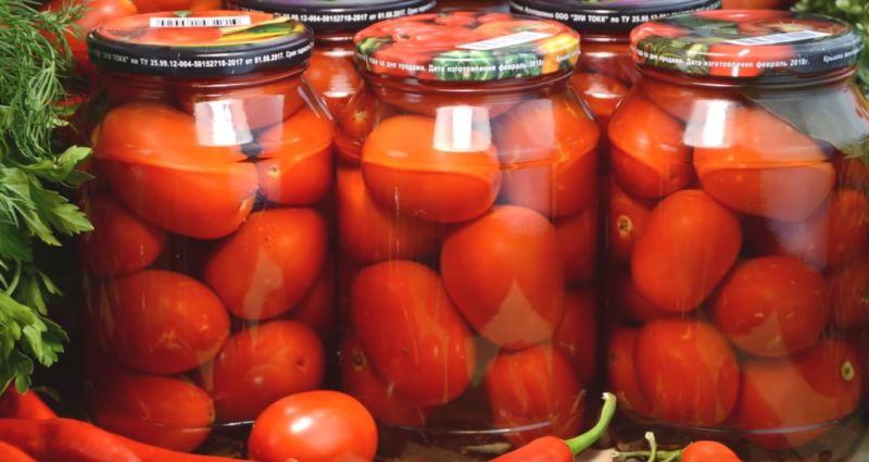 Сладкая помидора на зиму на литр воды