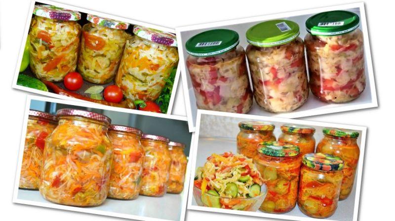 Заготовки на зиму с капустой и овощами