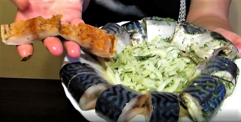 скумбрия соленая в домашних условиях очень вкусная