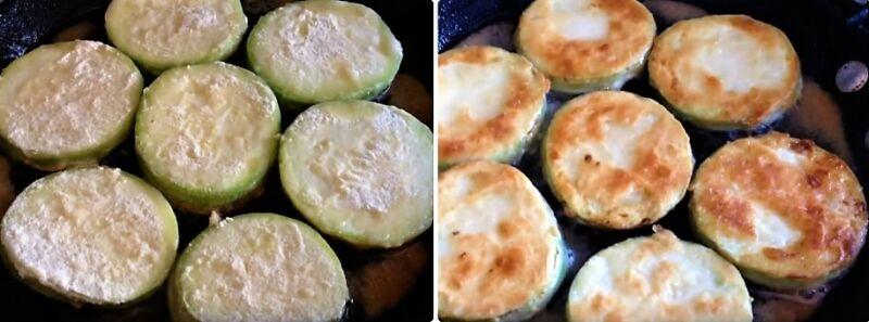 жареные кабачки на сковороде