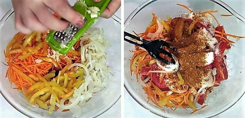 салаты из помидоров на зиму