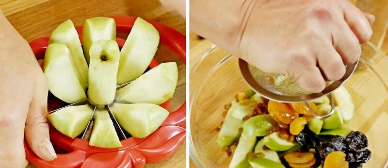 утка в яблоках в духовке