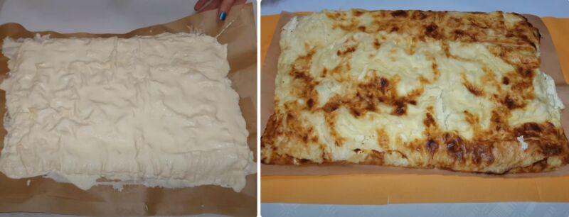 пирог с творогом из лаваша