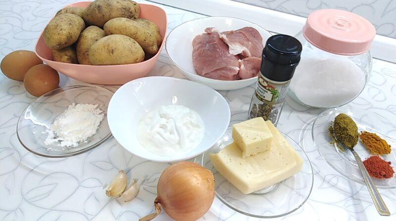 картошка с фаршем в духовке