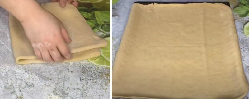 дрожжевой пирог с творогом