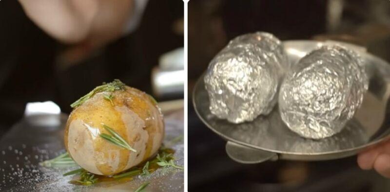 картошка молодая в духовке в фольге