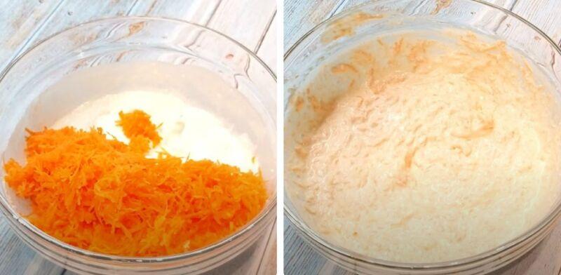 запеканка творожная с морковью