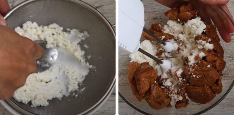 торт из печенья с творогом и сгущенкой
