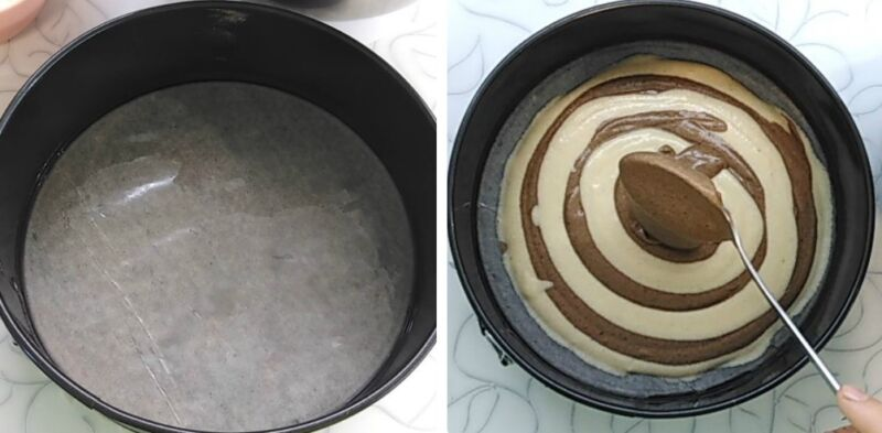 пирог зебра классический