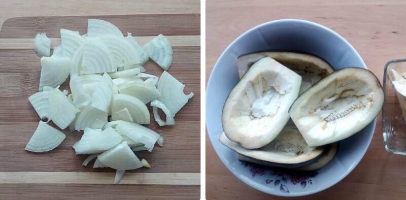 баклажаны в духовке с грибами