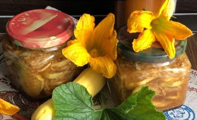 салаты из кабачков на зиму