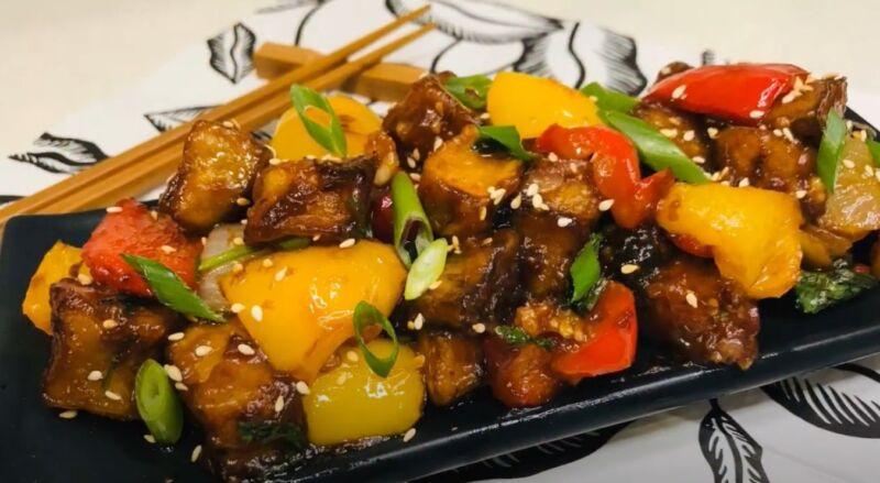 баклажаны в кисло-сладком соусе по китайски